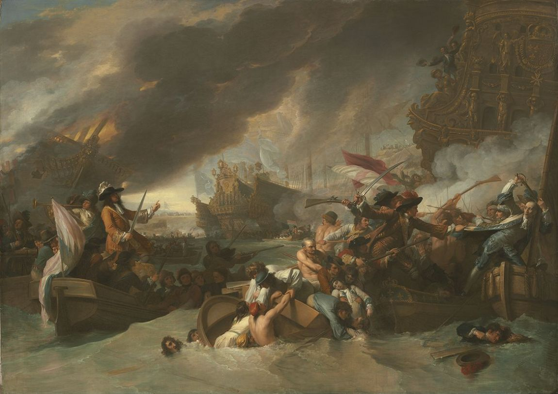 West, Benjamin: The Battle of La Hogue. Fine Art Print/Poster. Sizes: A4/A3/A2/A1 (004071)